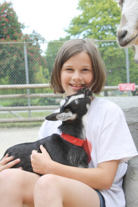 Travis Paterson/News staff Grade 6 student Jillian McCue of Gordon Head middle school is pushing Saanich council to call for a bylaw amendment permitting mini goats as pets.